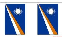MARSHALL ISLANDS BUNTING - 3 METRES 10 FLAGS